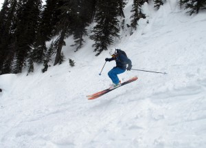 BD ski category director Thomas Laakso hopping around the Whitewater backcountry. By Devon O'Neil