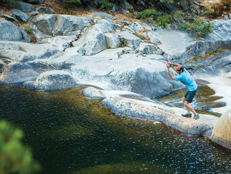 No pressure: you have to climb to reach Chad Shepard's fishing holes.