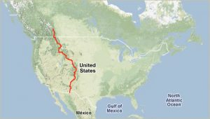 Tour Divide overview map